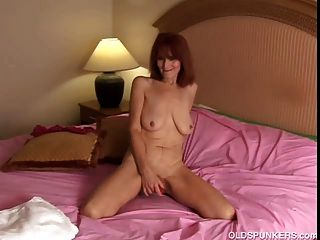 Skinny Mature Amateur Redhead Strips Off And Shows Her Sexy