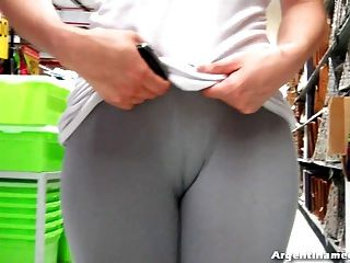 Amazing Bubble Butt Teen In The Street And The Market! Wet!