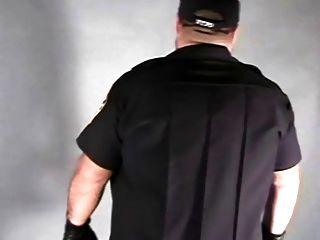 Hot Bear Cop In Uniform