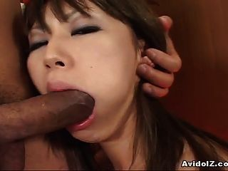 Yuu Kawano Sucks A Big Cock And Swallows Cum