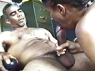 Old Black Grey Muscled Granddad Sucked, Fuck Young Sonboy