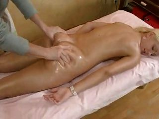 Russian Blonde Gets A  Nice Massage