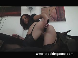Stocking Milf Pussy Playing