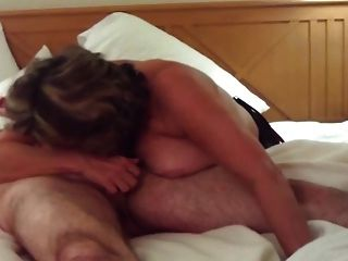 Busty Mature Swallows All Of Big Young Cock