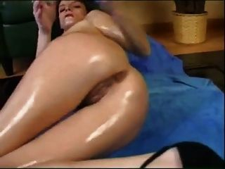 Oiled, Masturbation, Fisting And Huge Toy.