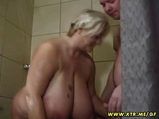 Busty And Fat Amateur Wife Sucks And Fucks In Her Bathroom
