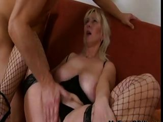 Sexy Blond Mature With Saggy Tits