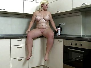 Chubby  Girl Strips And Plays With Her Pussy