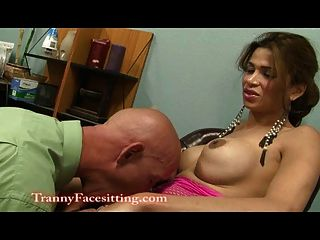 Latina Shemale Office Job Interview Ass Licking And Fucking