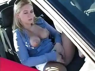 Nice Chick Masturbates On Parking Lot