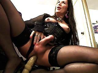 Tranny Slut Jenna Rides Dildo