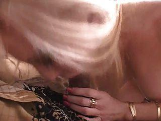 Blonde Milf Sucking Black Cock.