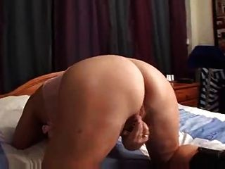 Granny Shows Her Pussy And Plays Alone On Bed