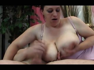 Brunette Bbw-milf With Huge-boobs In Hot Fucking-scene