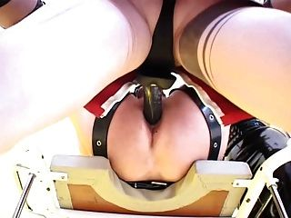 Two Cruel Mistresses Fucks Slave Ass With Toys And Fists