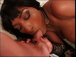 White Guy Sucks On Ebony Chicks Large Natural Tits