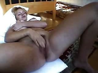 Sexy Blondy Mom Masturbate And Squirt , Nice Tight Pussy