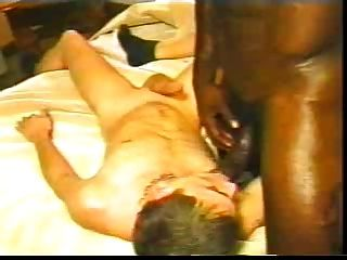Black Man Makes White Boy His Bitch