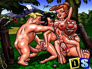 Cartoon Mothers, Housewifes And Their Cuckolds Make Porn