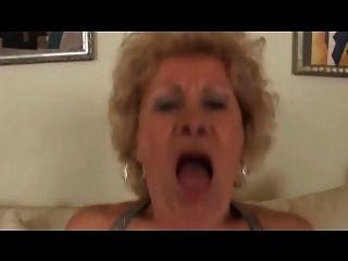 Busty Hairy Blonde Granny Fucks