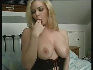 Brit Alicia Rhodes In A Sexy Nightie Talking Dirty And Mastbating