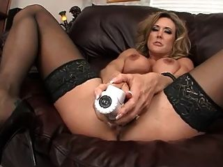 Hot Milf Brandi Love Stuffs Her Pussy