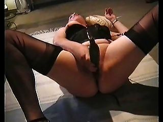 Cum On Table In Fully Fashioned Nylons