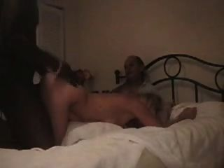 Hubby Films Blonde Wife Enjoying Black Satisfaction