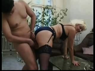 Blonde German Mature In Stockings