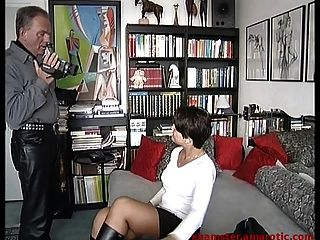 Lure Street Girl In Mini & Boots Into Porn Production
