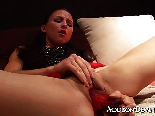 Huge Dildo Makes Me Squirt Hard!