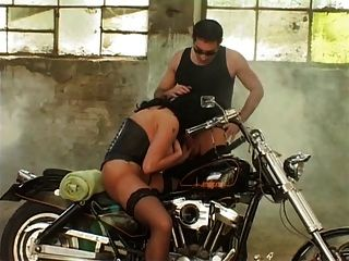 Huge-titted Laura Orsolya Assbanged By Biker