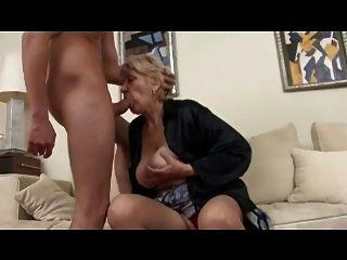 Beefy Granny In Stockings Fucks
