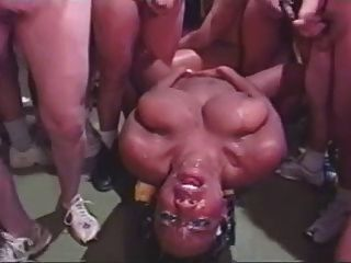 100 Guys Cum On Her Face Massive Bukkake