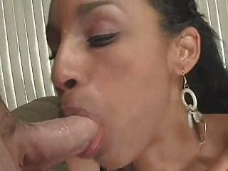 Mich James Sucks Huge Cock For Cumshot In Her Mouth