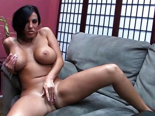 Gorgeous Brunette With Big Tits Fuck Her Pussy With Dildo