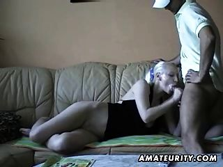 Young Blonde Amateur Girlfriend Sucks And Fucks With Facial