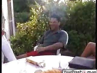 Wife Smoking Husbands Cigar In Public...f70