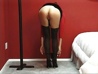 Hot Tight Brunette Gets Naked And Spreads Her Tight Pussy On The Bed