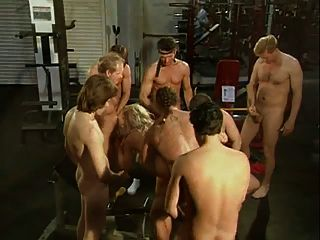 Sassy Blonde Gang Banged In The Gym - Cireman