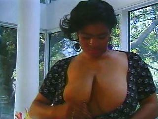 La Tina Big Boobs Playing Hairy