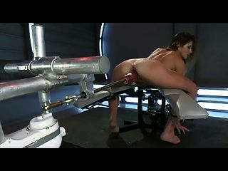 Lovely Lady Plays With Her Toys And Machines