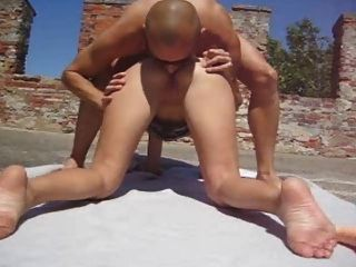 Hot Blonde Outdoor Anal Fuck