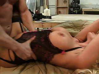 British Blonde Slut Gets Fucked In The Workshop