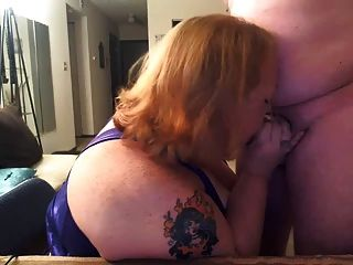 Bbw Cocksucker Devours Fresh Meat!
