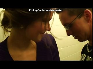 Public Restroom Threesome With 18 Year Old