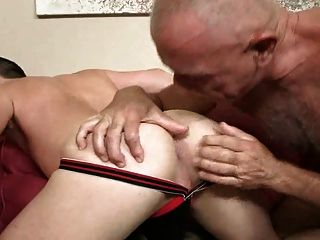 Bald Silver Daddy And Eager Bottom Boy