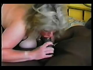Mature Blonde In Stockings With Her Black Bull
