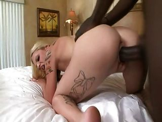 Wonderful Blond Girl Fucked By Big Black Cock
