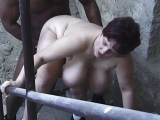 Shorthair-bbw-milf Interracial-anal In Cellar